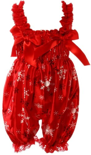 Masione Baby Toddlers Floral Printed Ruffle Romper Baby Girl Infant Size M (Size: M Snowflake) front-329968