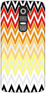 Snoogg Rainbow Shades Pattern 2575 Designer Protective Back Case Cover For LG G2