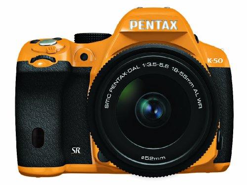 RICOH デジタル一眼レフ PENTAX K-50 DAL18-55mmWRレンズキット オレンジ/ブラック 022 K-50 L18-55WR KIT ORANGE/BLACK 022 11176