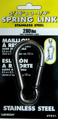 Lehigh 7421-6 5/16-Inch by 3-1/4-Inch 280-Pound Stainless Steel Spring Link