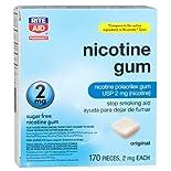 Rite Aid Nicotine Gum 2 mg 170 Ct