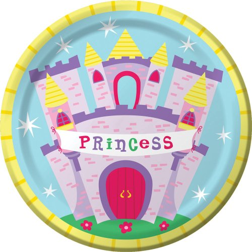 Creative Converting Castle Fun Round Dinner Plates, 8-Count