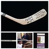 Bobby Hull Brett Hull Chicago Blackhawks St. Louis Blues Signed Autograph Northland Hockey Stick. JSA COA