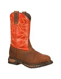 Rocky RKYW092 Womens Ride Steel Toe Western Boots