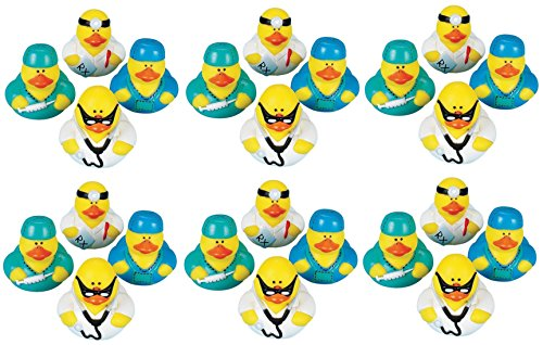 Lot Of 24 Doctor / Intern ~ Rubber Ducks ~ Ducky Party Favors /Gifts
