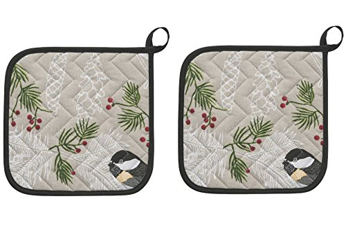 Now Designs Potholders, Chickadee, Set of 2