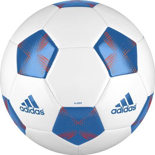 Adidas 11Glider Soccer Ball (White/Bright Blue/Infrared, 5)