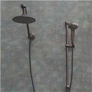 Atlantis 7 Oil Rub Bronze Rain Shower Head With Handheld Showerhead Hand He