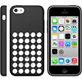 iProtect Silikon Schutzhülle iPhone 5c Case hollow dots schwarz