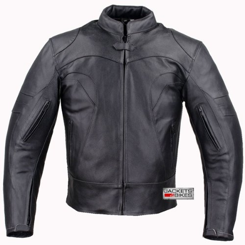 XR VENTED MOTORCYCLE LEATHER ARMOR JACKET Black