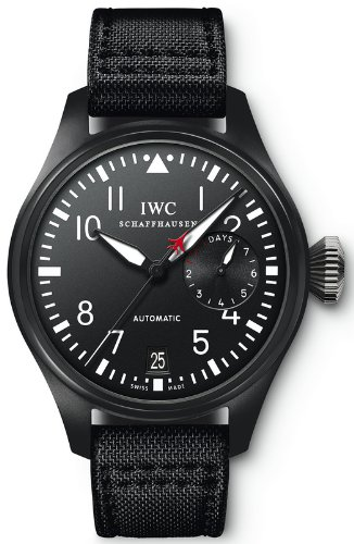 IWC Big Pilot Top Gun Black Dial Automatic Power Reserve Mens Watch IW501901