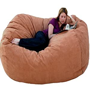Amazon Cozy Sack 6 Feet Bean Bag Chair Rust