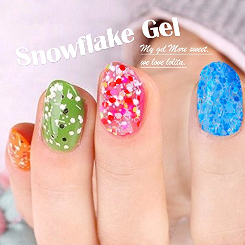 Candy-Lover-12ml-Snowflake-UV-Gel-Nail-Polish-Soak-off-Gel-Colors-Nail-Beauty-Products