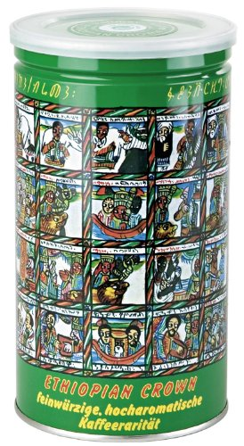 Dallmayr Gourmet Coffee, Ethiopian Crown, 17.6-Ounce Specialty Gift Tins (Pack of 2)