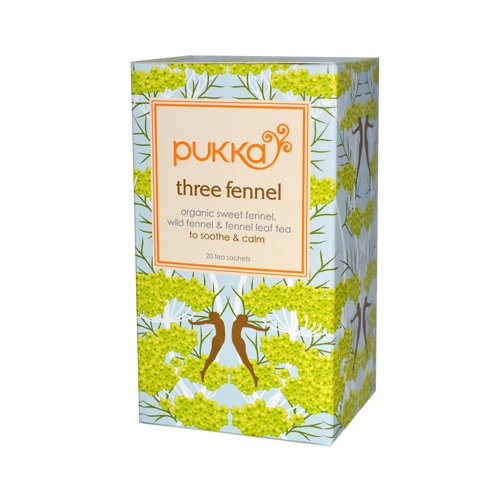 Pukka Herbal Teas Three Fennel - Caffeine Free - 20 Bags Pukka Herbal Teas Three