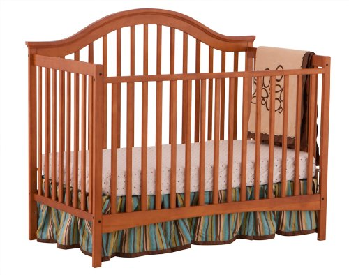 Stork Craft Ravena Fixed Side Convertible Crib, Oak