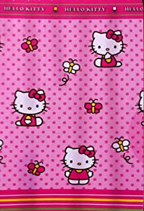Hello Kitty Garden Fabric Shower Curtain
