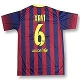 レプリカサッカー/フットサルシャツ●バルセロナ シャビ 6番 ホーム半袖●T1217