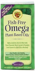 Nature's Secret Fish-free Omega Plant-based Oils,90 Liquid Soft-Gels Bottle