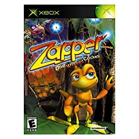"Zapper: One Wicked Cricket! (Video Game) By Infogrames          Buy new: $32.99 34 used and new from $0.01     Customer Rating:       First tagged ""xbox"" by Ashley A Upthagrove"