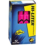 Avery Desk Style HI-LITER, Pink, 12 Pack (24010)