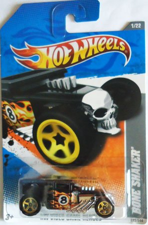 """2011 Hot Wheels """"HW VIDEO GAME HEROES"""" BONE SHAKER 1 of 22, 223/244 - 1"""