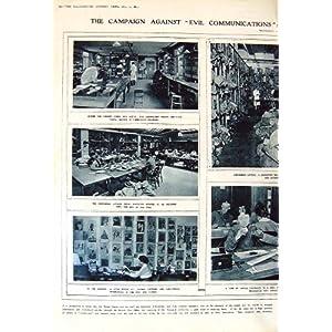 1917 work postal censorship letters chemist laboratory