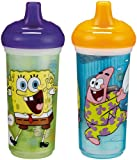 Munchkin Two SpongeBob Squarepants 9 oz Big Kid Insulated Spill-Proof Cup,Colors Vary (Discontinued by Manufacturer)