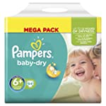 Pampers Baby Dry Nappies, Size 6+ (To...