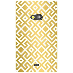 Nokia Lumia 625 Back Cover - Zig Zag Designer Cases