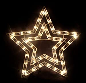 17 clear lighted star christmas window for 6 star window christmas decoration lights