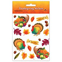 Thanksgiving Stickers   (4 Shs/Pkg)