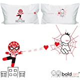 "BOLDLOFT® ""Captured By Your Love"" Couple Pillowcases-Christmas Gifts,Romantic Anniversary Gifts,Wedding Gifts,Valentine's Day Gifts,Gifts for Him,Gifts for Her"