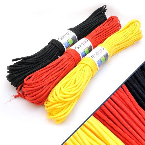 3-Pack-universel-de-survie-solide-type-corde-de-parachute-rsistance-550-kernmantel-corde-de-nylon-550-lbs-longueur-totale-93-m-300-ft-couleur-deutschland-noirrougejaune-ganzoo