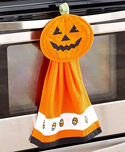 2-Pc. Halloween Kitchen Set (Orange Pumpkin) (Halloween Tabletop)