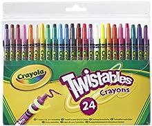Comprar Crayola 24 Twistable Crayons - ceras (Multi, Multi, Alrededor, Cera, Niño/niña, Caja)