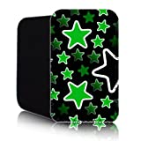 STARS Pattern [ GREEN ] for Nokia Lumia 820 (L) Shock Resistant Neoprene Slip Pouch (Case, Cover)
