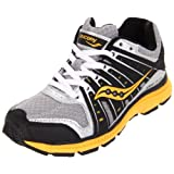 Saucony Junior B Grid Flex Silver/Yellow/Black Sports Running Sc41539 11 UK Junior