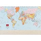 Nobo - Carte politique du Monde, Plastifiée - Anglais...