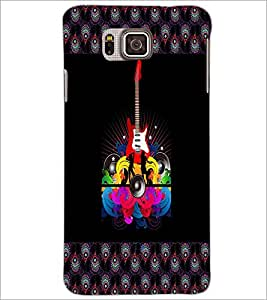PrintDhaba Guitar D-4607 Back Case Cover for SAMSUNG GALAXY ALPHA (Multi-Coloured)