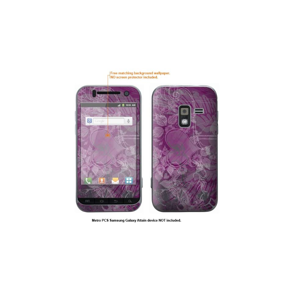 Protective Decal Skin Sticker for Metro PCS Samsung Galaxy Attain 4G case cover Attain 566