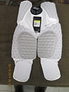 Buy Nike Pro Combat Hyperstrong 3 4 7 Pad Football Girdle, White Gray, Extra Large by Nike