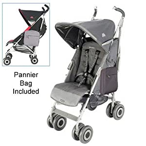 Maclaren WDN07052 Techno XT Stroller with Pannier Bag in Charcoal