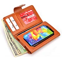 Kroo Mahogany [Brown] Bifold Wallet With Phone Pocket For Samsung Galaxy A3, J1, S4 S3 S2 | Case