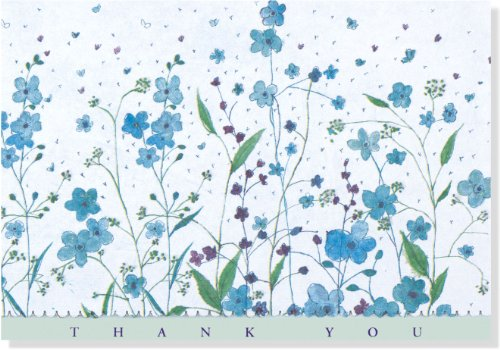Blue Flowers: Thank You (Note Card)