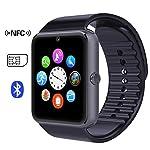 Time4Deals® GT08 Bluetooth Smart Watch Armband mit SIM-Karten-Slot und NFC Smart Health Watch for Android-Smartphone und IOS Apple Iphone - Schwarz
