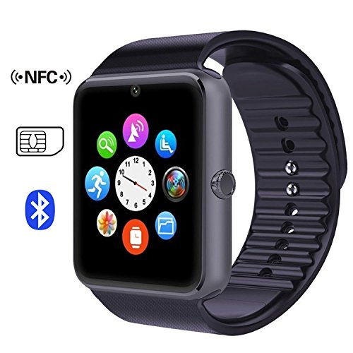Time4DealsR GT08 Puce Bluetooth Montre Bracelet Avec Fente Pour Carte SIM Et La Sante De NFC Regarder Smartphone Android IOS Apple Iphone