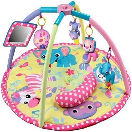 Lovely Kids Infantino Baby Girl Animals Twist Fold Activity Gym Playmat Developmental Toys front-742798