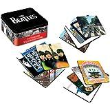 Vandor 64285 The Beatles 13-Piece Album Cover Coaster Set with Tin Storage Box, Multicolored