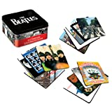 Vandor 64285 The Beatles 13-Piece Album Cover Coaster Set with Tin Storage Box, Multicolored